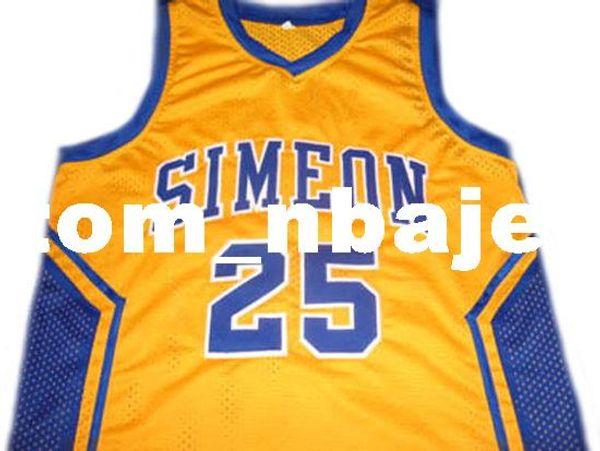 Wholesale Derrick Rose  25 Simeon High School Basketball Jersey ... d107695a8