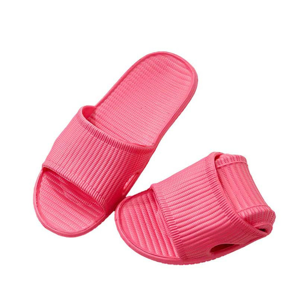 Hot Marketing Slippers Summer Floor Skid Proof Home Floor Slippers Indoor Family Stripe Flat Bathroom Bath Sandal Slippers Women