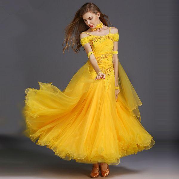 Новые Coming Горячие продажи Высокое качество Производительность одежда Бальные танцы платье