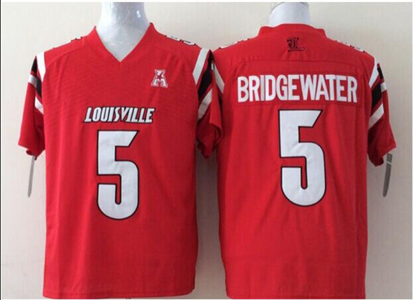 Mens Louisville Cardinals Teddy Bridgewater Stitched Name&Number American College Football Jersey Size S-3XL