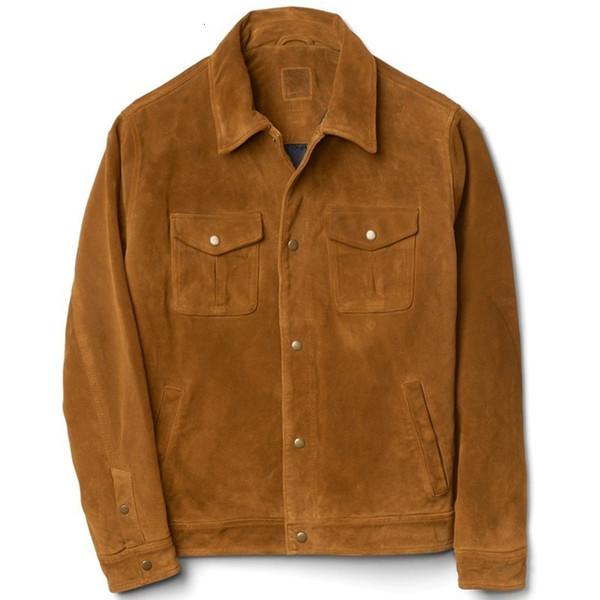 Hombres de invierno de algodón acolchado hombres vaquero verdadero de la vaca de la chaqueta de gamuza de cuero delgado corto Fit Moda Escudo de la motocicleta genuino chaqueta de cuero