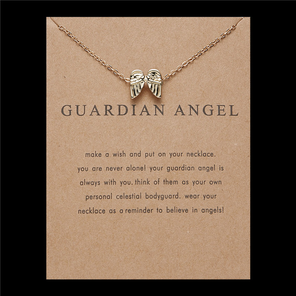 Clavicle Necklace with Blessing Gift Card Small Dainty Gold Compass Pendant Chain Classy Costume Choker Jewelry Favors
