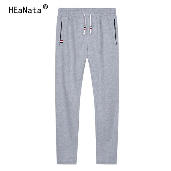 6XL Erkekler Düz Jogging Yapan Pantolon Rahat Sıska Erkek Parça Pantolon Streetwear Sweatpants Spor Elastik Bel Pantolon Erkekler
