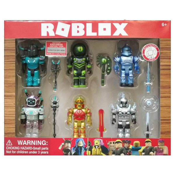 4-6pcs/set 2018 Cartoon PVC Roblox Game Figma Oyuncak Amine Mermaid Action Figure Toys Kids Collection Ornaments Gift For Kid's