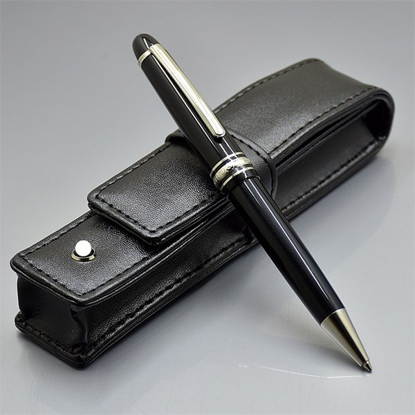 Free Shipping - Luxury MSK-145 Black Resin Ballpoint pen Ball point pen Stationery School Office supplies with Monte Brands Serial Number