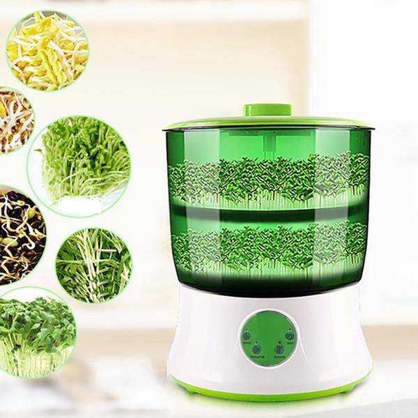 Hogar Digital DIY Brotes de Frijoles Creador de 2 Capas Automático Germinador Eléctrico Semilla Vegetal Plántula Crecimiento Crecimiento Biolomix