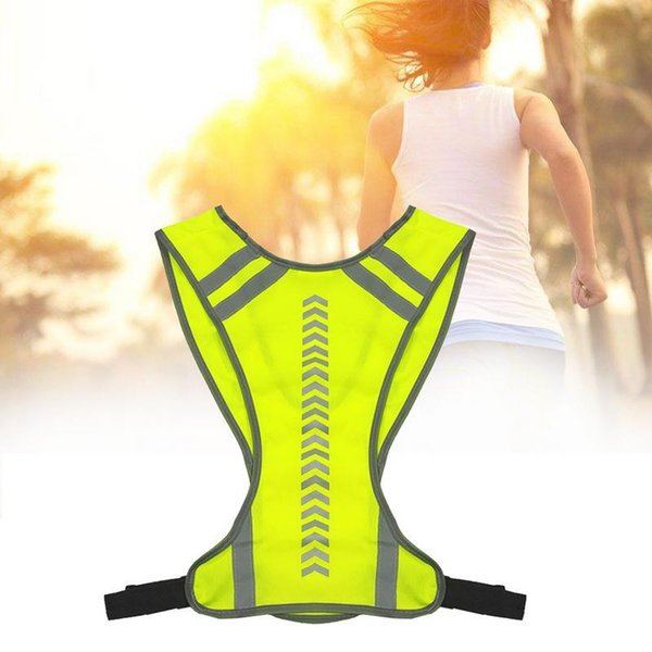 top popular High Visibility Outdoor Night Riding Cycling Running Reflective Vest Working Clothes Man Women Night Warning Safety Vest Tops 2020