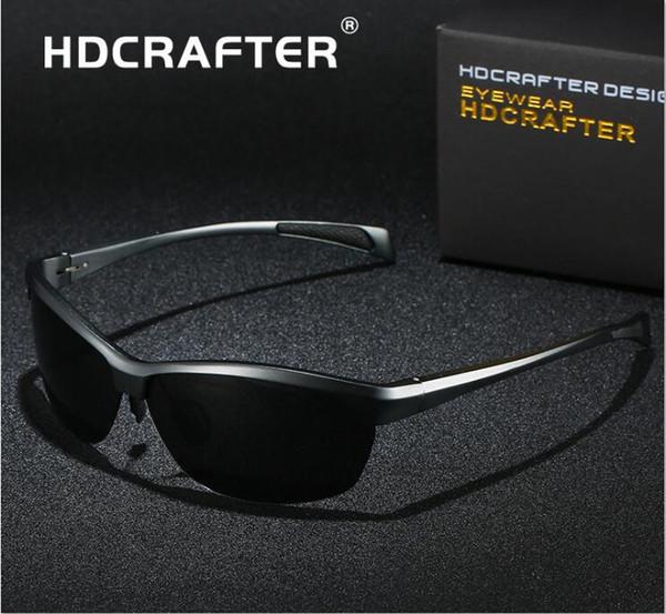 HDCRAFTER dernière conception Polarized Sport Trend Lunettes de soleil Cadre en alliage Al Mg Anti-reflets conduite pêche ultraviolets Lunettes de soleil