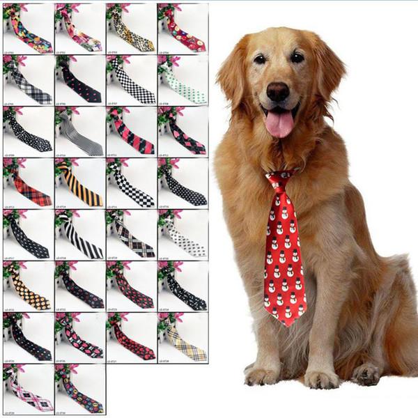 Cani grandi grandi cravatte cravatte per medie big pet poliestere seta vestire collo cravatta cane governare forniture 30 colori