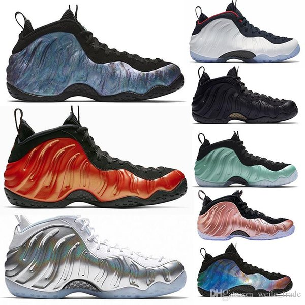 2019 New Penny Hardaway Eine Galaxie Herren Basketball-Schuhe Silber Rose Gold Schwarz Herren Designer Sneakers Zapatos Foams Sports Chaussures