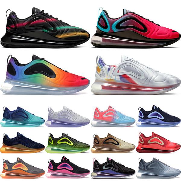 Futuro retroceso zapatos corrientes de los zapatos del diseñador para hombre iridiscente luces del norte Día Bosque Mar zapatillas de deporte para mujer de lujo en la puesta del sol Mar Rosa 36-45