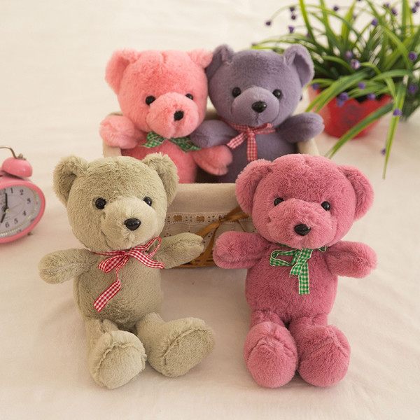 New More Color Bear Plush Toy Stuffed For Kids Best Holiday Gifts 25CM 10pcs/Lot -akye
