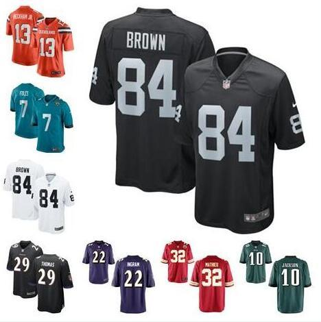competitive price 66152 22d41 2019 Nick Foles Jersey Antonio Brown Odell Beckham Jr Raiders Eagles Mark  Ingram Earl Thomas Tyrann Mathieu Authentic Football Jersey Hot Sale From  ...