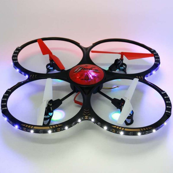 Wifi remote control aircraft colorful four-axis aircraft UAV with LED lights crash-resistant manufacturers wholesale