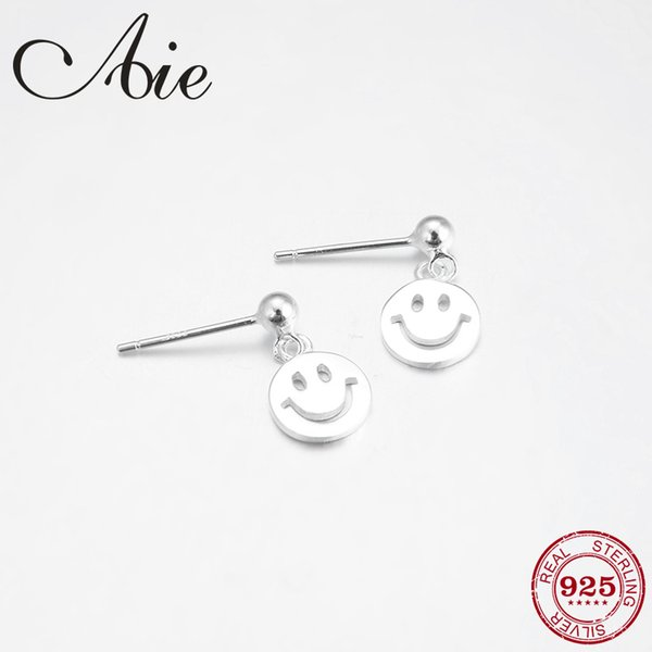 Have Good Day 925 Sterling Silver DIY gift Smiling face shape fine Dangle Earrings luxury fashion Jewelry 2018