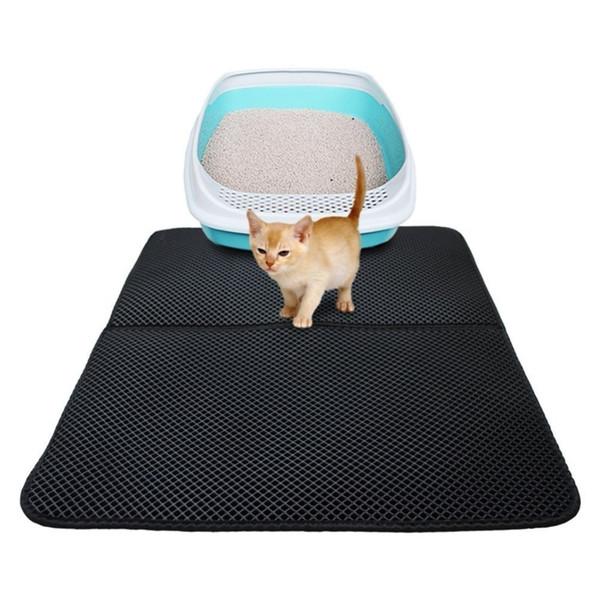 Kedi Mat Çöp Pedi Katlanır Kedi Kumu Trapper Mat Petek Su Geçirmez Kedi Kumu Mat Eva Çift katmanlı Ped Yatak Zemin Korumak