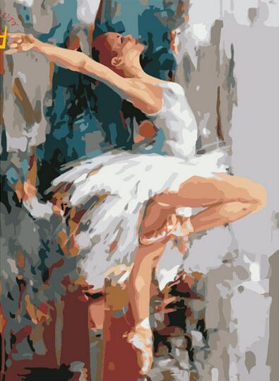 40x50cm Paintings DIY by numbers on canvas with acrylic paints dancing woman paintings for drawing on the wall home decor art gift