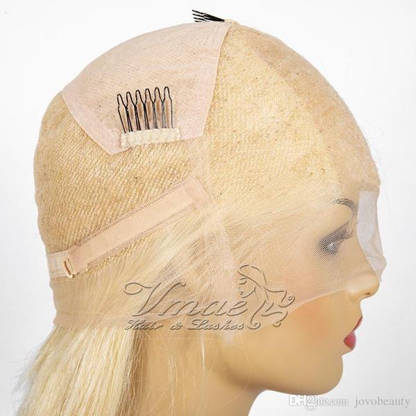 Super Qualité russe cuticules Alignés Raw Virgin 613 blond Wave Straight cheveux Transparent Top en soie en dentelle pleine perruque brésilienne perruques de cheveux humains