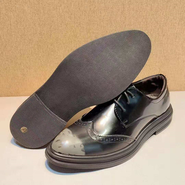 Men's In British Tide Restoring Ancient Ways of Carve Patterns on Woodwork Business Are Nib Leisure Shoes Men Lace-up High Quality Dress