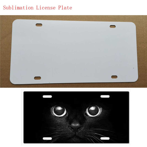 top popular New style sublimation blank metal car License plate item product hot heart transfer printing diy custom consumables 29.5*14.5CM 2021