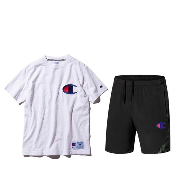 Tute della stilista di moda per abbigliamento sportivo di marca da uomo con lettere di marca Pantaloni tuta di jogger di lusso manica corta estate 3 colori