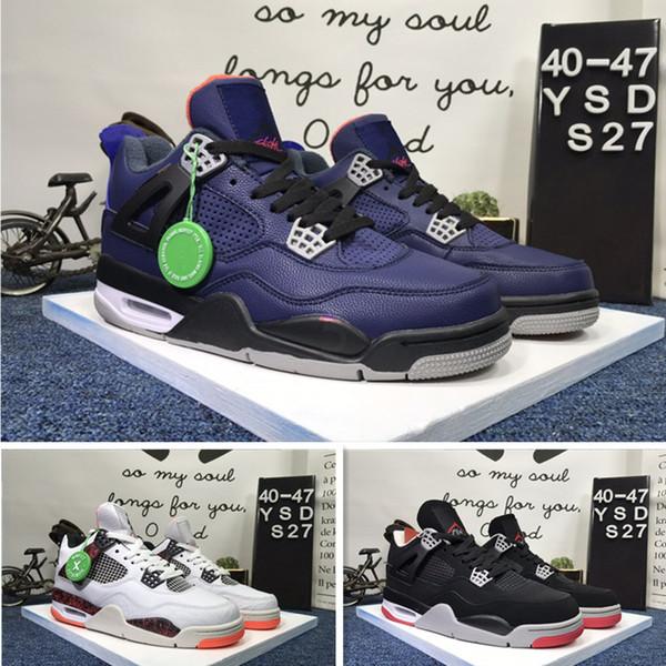 2019 лучшее качество AIR 4 ПРОСТРАНСТВО дизайнер JAM моды мужские роскошные кожаные низко, чтобы помочь 4S баскетбол обувь повседневная обувь pz3250