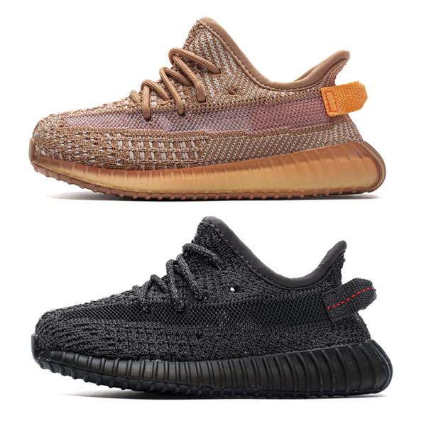 Boutique v2 Infant Kanye West Chaussures Bébé Garçon Fille Petits Enfants Tout-petit Sneakers Pour Enfants Lundmark Synth Static Noir Argile Réfléchissante GID Blanc