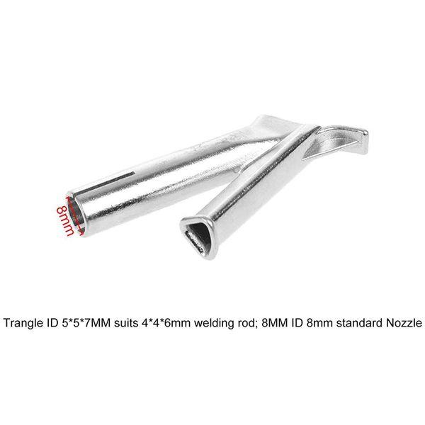 8mm Speed Welding Mouth Nozzle Tip Triangular Shape For Plastic Welder Polythene