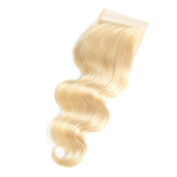 LEDON 5x5 Top Lace Closure, Body Wave BW, Color 613, Density 130%, 100% Non-Remy Human Hair Extentions, 1 Piece