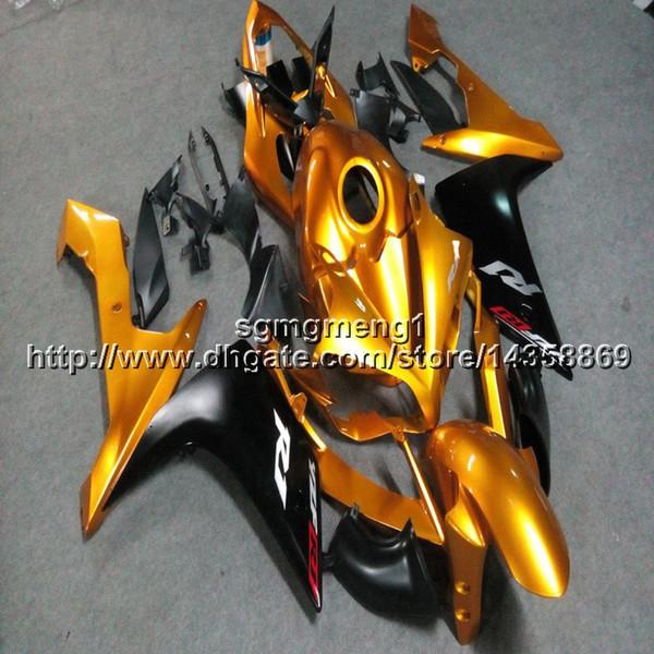 Personalizado + Tornillos Paneles de motocicleta de inyección de oro para Yamaha YZF-R1 2007-2008 07 08 Motor YZFR1 ABS Carenados