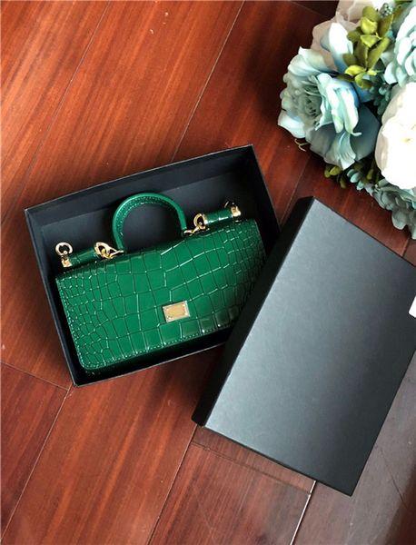 2019 NEUE klassische serie krokoprägung Leopardenmuster Dame Abendtaschen Aus Echtem Leder Solide Einfache mode Mini tasche Candy farbe