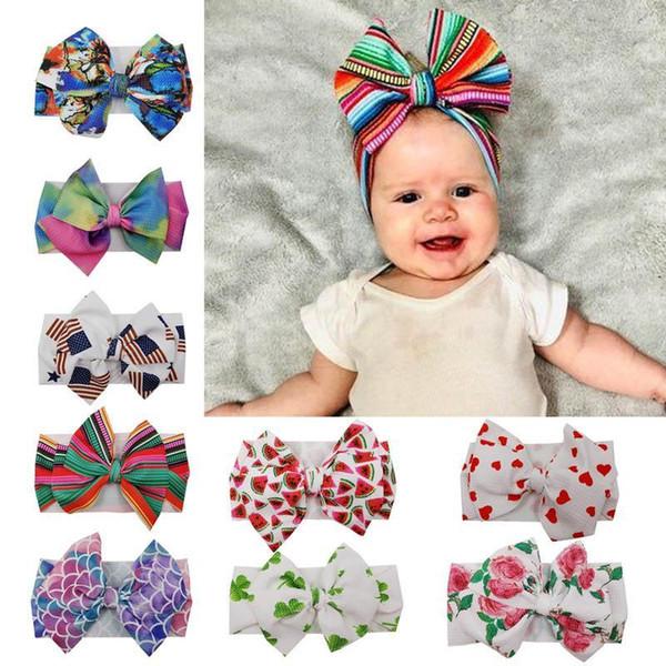 2020 yeni DIY saç bebek kız saç bantlarında gökkuşağı kız tasarımcısı saç bandı Denizkızı tasarımcı kafa bantları bebek saç bandı saç aksesuarları fiyonklar