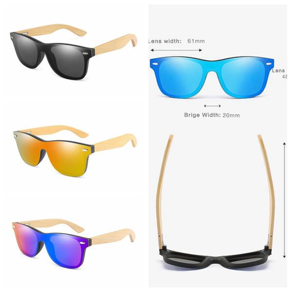 Bambu Ayak Güneş Gözlüğü 5 Renkler Ahşap Bacaklar Polarize Güneş Gözlükleri Kadın Erkek Açık Plaj Spor Gözlük OOA6927