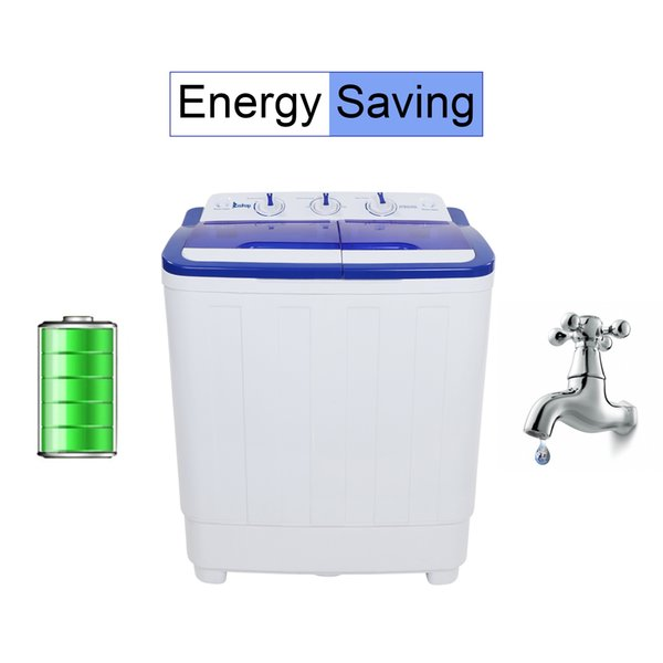 2019 Portable Washing Machine 16Lbs Semi Automatic Compact Twin Tub Washer  And Spin Dryer Combo For Apartment Dorms RVs Camping And More US Stand From  ...