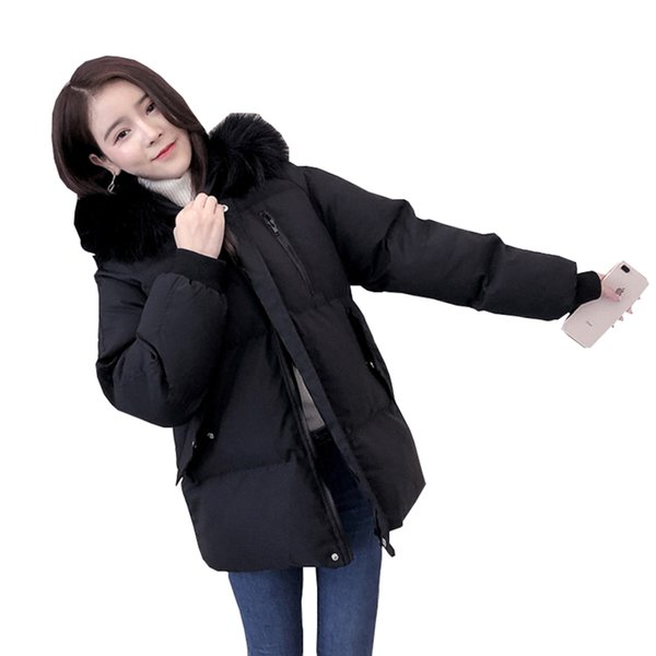 Winter Jacket Women New Parka Down Cotton Coat Female Puffer Jacket Plus size Loose Womens Coats Bread thick warm Parkas Q154