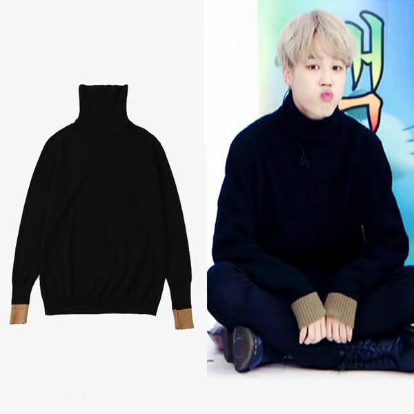 BTS kpop JIMIN Herbst warm schwarz lose Stehkragen Hoodies Frauen 2019 Hip Hop Fashion Pullover Sweatshirt Korean Casual Kleidung