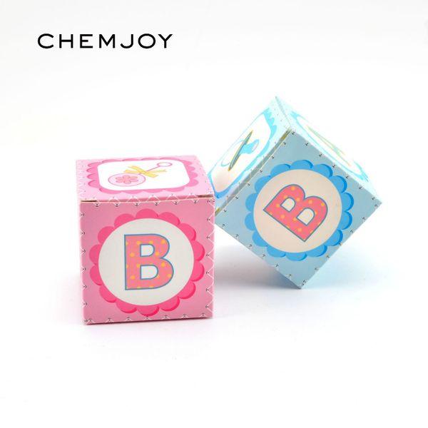 Bomboniera rosa blu Baby Shower Bomboniera Baby Girl Boy 1 ° compleanno battesimo battesimo Gender Reveal decorazione del regalo del partito