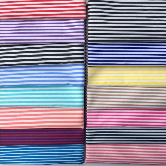 Striped polyester fabrics, printed polyester fabrics, ladies dresses, shirts, striped clothing bags lining, curtain tablecloth accessories