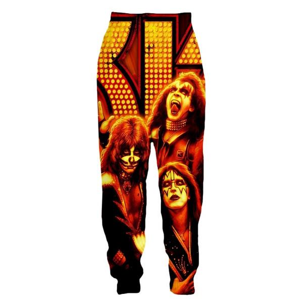 New Harajuku Kiss Heavy Metal Rock Band Rebel Funny 3D Print Women Mens Jogger Pants Sweatpants Trousers2