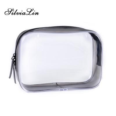 eff027458264 Transparent PVC Bags Travel Organizer Clear Makeup Bag Beautician Cosmetic  Bag Beauty Case Toiletry Make Up Pouch Wash Bags