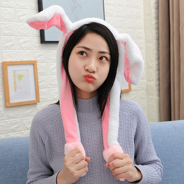 Flash Ears Pink Plush Gifts Imitate Girl Friend Joke Cute Funny Gasbag LED Sweet
