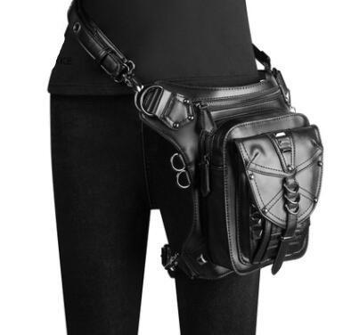 Steampunk Retro Motorcycle Bag Retro Rock Gothic Goth Borsa a tracolla Marsupio