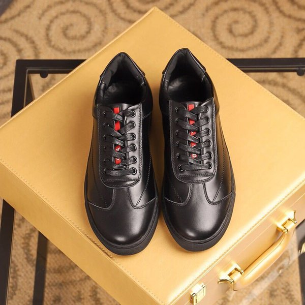 duping520 Classic black flat shoes 2036 Men Dress Shoes Moccasins Loafers Lace Ups Monk Straps Boots Drivers Real leather Sneakers Shoes