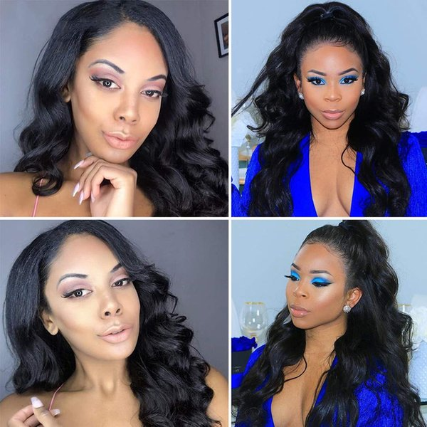 Body Wave Lace Front Human Hair Wigs with Hairline Pre Plucked Baby Hair for Woman Brazilian Virgin Hair Body Weave Lace frontal Wig
