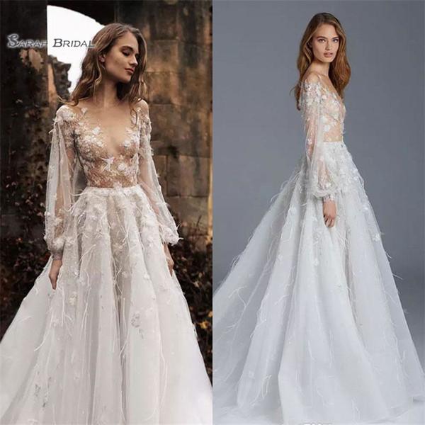 2019 Paolo Sebastian A Line Evening Dress Prom Dresses Sexy Long Sleeve Appliques Formal Party Gowns Vestidos De Fiesta