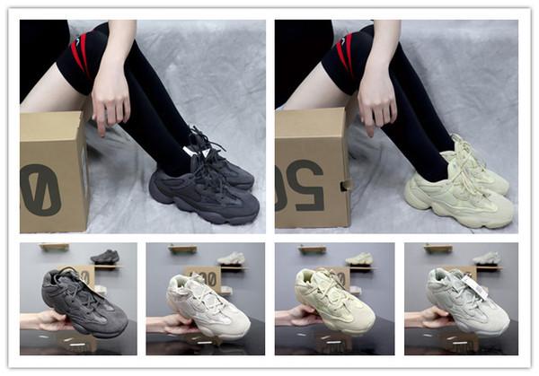 2019 новый 500 коробка мужской дизайнер кроссовки супер луна желтые дамы обучение на открытом воздухе пустыни мыши повседневная спортивная обувь wesaab