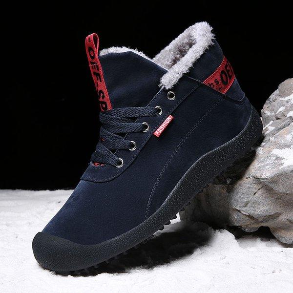 Compre Botas De Nieve De Invierno De Sycatree Para Hombres Zapatos Deportivos Al Aire Libre Zapatillas De Deporte De Camping Con Piel Cálida