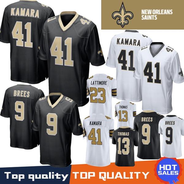 41 Alvin Kamara New Orleans Saints Jersey 9 Drew Brees 13 Michael Thomas 23  Marshon Lattimore 28 Adrian Peterson 100% Stitched 5a6c16fd0