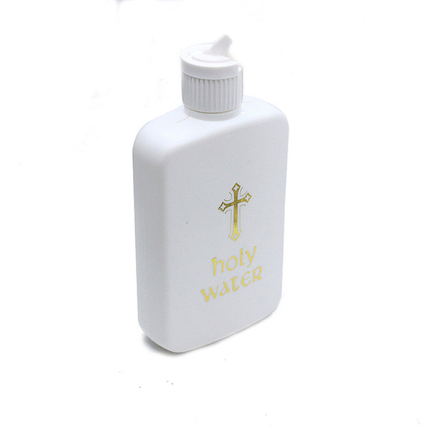 Holy Water Bottle 100ML Religious Articles Bottles Easter Plastic Bottle with Cross for Holy Water ZC1838