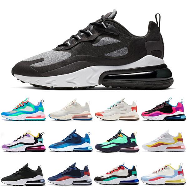 Großhandel Nike Air Max 270 React Eagieren Herren Sportschuhe OPTICAL Weiß Rot BAUHAUS Beige Hyper Pink Herren Laufschuhe Sportschuhe Designer